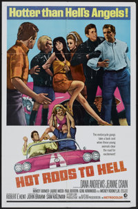"Hot Rods to Hell (MGM, 1967). One Sheet (27"" X 41""). Cult Classic"