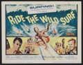 "Movie Posters:Sports, Ride the Wild Surf (Columbia, 1964). Title Lobby Card (11"" X 14""). Sports...."