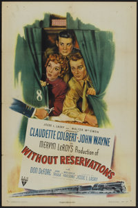 """Without Reservations (RKO, 1946). One Sheet (27"""" X 41"""") Style A. Comedy"""