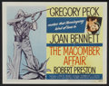 "Movie Posters:Drama, The Macomber Affair (United Artists, 1947). Title Lobby Card (11"" X 14""). Drama...."