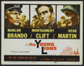 "Movie Posters:War, The Young Lions (20th Century Fox, 1958). Title Lobby Card andLobby Cards (6) (11"" X 14""). War.... (Total: 7 Items)"