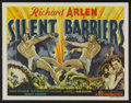 "Movie Posters:Action, Silent Barriers (Gaumont, 1937). Title Lobby Card and Lobby Cards (7) (11"" X 14""). Action.... (Total: 8 Items)"