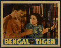 "Movie Posters:Adventure, Bengal Tiger (Warner Brothers, 1936). Lobby Card (10.75"" X 13.75"").Adventure...."
