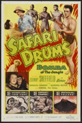"""Movie Posters:Adventure, Safari Drums (Allied Artists, 1953). One Sheet (27"""" X 41"""").Adventure...."""