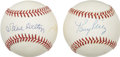 Autographs:Baseballs, Steve Carlton and Tony Perez Single Signed Baseballs Lot of 2....