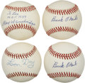 Autographs:Baseballs, Negro League Legends Single Signed Baseballs Lot of 4....