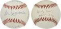 Autographs:Baseballs, Harry Caray and Don Newcombe Single Signed Baseballs Lot of 2....
