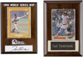 Autographs:Others, Carl Yastrzemski and Tom Glavine Signed Displays Group Lot of 2. .... (Total: 2 items)