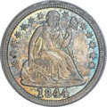 Seated Dimes, 1844 10C MS65 PCGS. CAC....