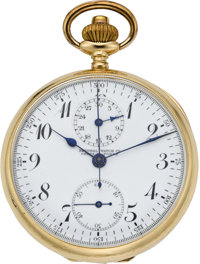 Swiss Gold Chronograph with Register, circa 1905