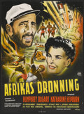 """Movie Posters:Adventure, The African Queen (United Artists, 1952). Danish Poster (24.25"""" X33.25""""). Adventure...."""