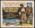 "Movie Posters:Action, Blackbeard the Pirate (RKO, 1952). Half Sheet (22"" X 28"") Style A. Action...."