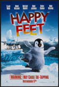 "Movie Posters:Animated, Happy Feet Lot (Warner Brothers, 2006). One Sheets (2) (27"" X 40"")DS Advance. Animated.... (Total: 2 Items)"