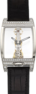 "Timepieces:Wristwatch, Corum Men's White Gold & Diamond ""Golden Bridge"", circa 2006...."