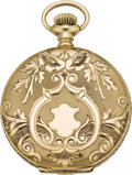 Timepieces:Pocket (post 1900), Waltham Fancy Gold Lady's Hunter Case, circa 1905. ...