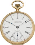 Timepieces:Pocket (post 1900), Waltham Gold Private Label Pocket Watch, circa 1905. ...