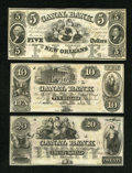 Obsoletes By State:Louisiana, New Orleans, LA- New Orleans Canal & Banking Company $5; $10; and $20. ... (Total: 3 notes)