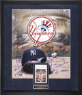 Baseball Collectibles:Others, New York Yankees Greats Multi-Signed Display....