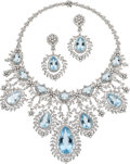 Estate Jewelry:Suites, Aquamarine, Diamond, White Gold Jewelry Suite. ... (Total: 3 Items)