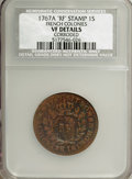 Colonials, 1767-A 9DEN French Colonies 'RF' Stamp Copper Sou--Corroded--NCS.VF Details. NGC Census: (0/0). PCGS Population (3/39). ...