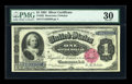 Large Size:Silver Certificates, Fr. 222 $1 1891 Silver Certificate PMG Very Fine 30....