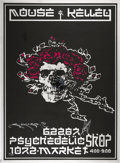 Music Memorabilia:Posters, Grateful Dead Skull And Roses Limited Mirror Poster Signedand Numbered by Mouse and Kelly (1990s)....