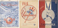 Autographs:Others, 1942-51 Signed New York Baseball Programs Lot of 8, 2 Unsigned....