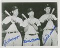 Autographs:Photos, Joe DiMaggio, Mickey Mantle and Ted Williams Multi-Signed Photograph....