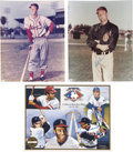 Autographs:Photos, Baseball Hall of Famers Signed Photographs Lot of 3....