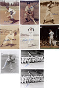 Autographs:Photos, Brooklyn Dodgers Greats Signed Photographs Lot of 9....