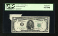 Error Notes:Attached Tabs, Fr. 1963-B $5 1950B Federal Reserve Note. PCGS Extremely Fine45PPQ.. ...