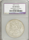 1893-O $1 AU50 NCS. NGC Census: (92/1198). PCGS Population (152/1530). Mintage: 300,000. Numismedia Wsl. Price for NGC/P...