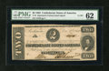 Confederate Notes:1862 Issues, T54 $2 1862. Cr. 391. ...