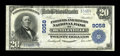 National Bank Notes:Pennsylvania, Bentleyville, PA - $20 1902 Plain Back Fr. 652 The Farmers & Miners NB Ch. # 9058. ...