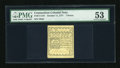Colonial Notes:Connecticut, Connecticut October 11, 1777 7d White Paper PMG About Uncirculated53....