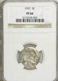 Proof Buffalo Nickels: , 1937 5C PR66 NGC. NGC Census: (459/349). PCGS Population (728/384).Mintage: 5,769. Numismedia Wsl. Price for NGC/PCGS coin...