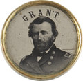 Political:Ferrotypes / Photo Badges (pre-1896), Ulysses S. Grant Ferrotype....