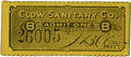 General Historic Events:World Fairs, World's Columbian Exposition: Clow Sanitary Company Pay Toilet Ticket....