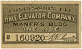 General Historic Events:World Fairs, World's Columbian Exposition: Hale Elevator Company Ride Ticket....