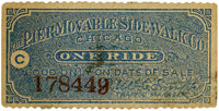 World's Columbian Exposition: Movable Sidewalk Ticket
