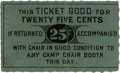 General Historic Events:World Fairs, World's Columbian Exposition: Chair Rental Ticket....