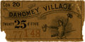 General Historic Events:World Fairs, World's Columbian Exposition: Concession Ticket for DahomeyVillage....