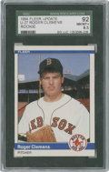 Baseball Cards:Singles (1970-Now), 1984 Fleer Update Roger Clemens #U-27 SGC 92 NM/MT+ 8.5. ...