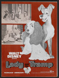 "Movie Posters:Animated, Lady and the Tramp Lot (Buena Vista, R-1971). Pressbooks (2) (11"" X15"") (Multiple Pages). Animated.... (Total: 2 Items)"