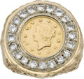 Estate Jewelry:Rings, Diamond, Gold Coin, Gold Ring. ...