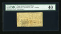 Colonial Notes:New Jersey, New Jersey December 31, 1763 1s PMG Extremely Fine 40....
