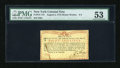 Colonial Notes:New York, New York August 2, 1775 (Water Works) 8s PMG About Uncirculated53....