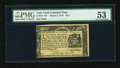Colonial Notes:New York, New York March 5, 1776 $1/4 PMG About Uncirculated 53....