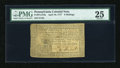Colonial Notes:Pennsylvania, Pennsylvania April 10, 1777 8s PMG Very Fine 25....