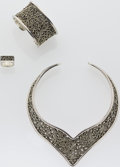 Estate Jewelry:Suites, Sterling Silver Jewelry Suite, Lois Hill. ... (Total: 3 Items)